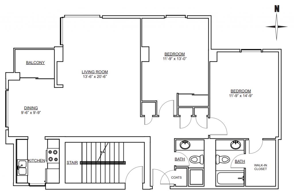 West Wing - 2 Bedroom 2 Bath