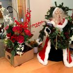 Holiday decor fills the halls and public spaces in Horizon House.